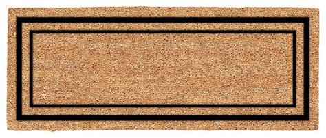 modern doormats decoir 24 quot x 60 quot classic border large coir door