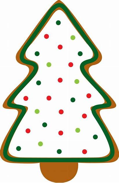 Christmas Clip Cookies Clipart Tree Gingerbread Cookie