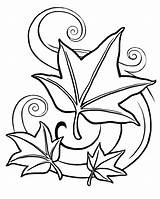 Coloring Pages Fall Autumn Leaf Leaves Printable Printables Getcoloringpages Falling Adults sketch template