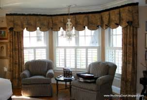 Living Room Bay Window Treatment Ideas
