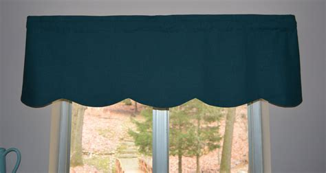 Inch Valance by Turquoise Blue Linen Valance With Scalloped Edge 15 X 52