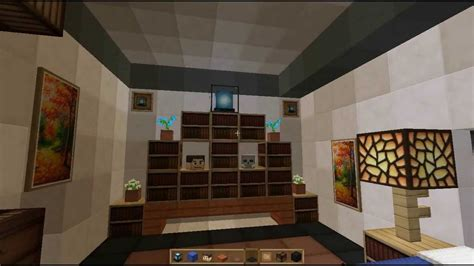 minecraft make a awesome modern room interior design for