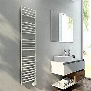Grande Serviette De Bain : radiateur s che serviettes blanc lisa 500w pour salle de bain grande ~ Teatrodelosmanantiales.com Idées de Décoration