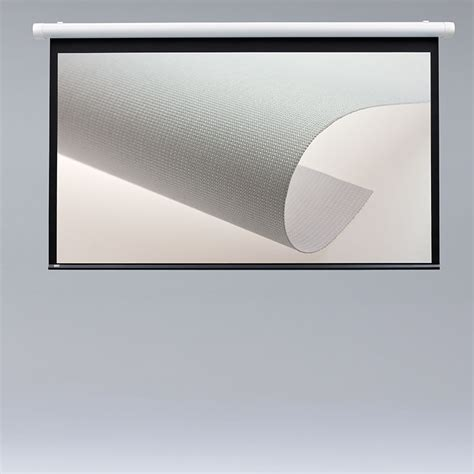 wall or ceiling mounted non tab tensioned projection