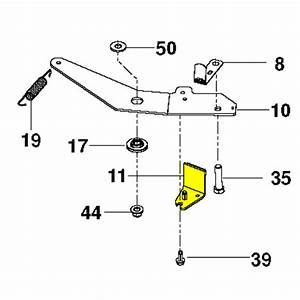 Husqvarna Brake Arm Rh 38 Inch Tex Coated 532400130