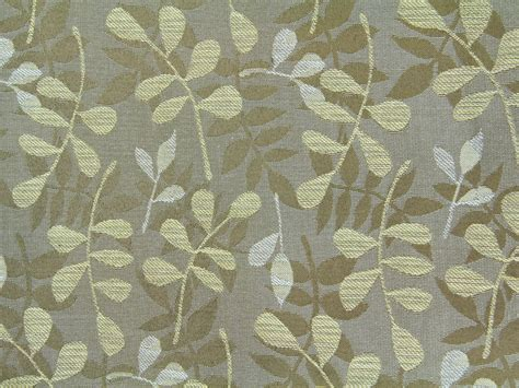 curtains green fabric texture brown leaf print nature branch cloth