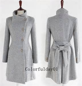 womens cat s fitted wool autumn winter pashm coat jacket