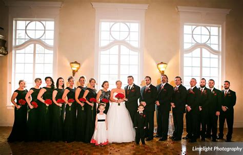 modern black and red wedding shaleena and brandon a