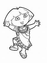 Dora Explorer Coloring Pages Boots Printable Cartoons Cartoon sketch template