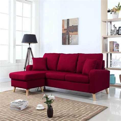 Small Modern Loveseat by Modern Fabric Small Space Sectional Sofa W Reversible