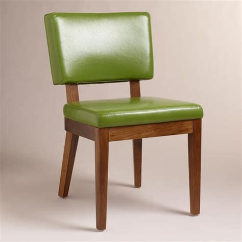 Dining Chairs Stunning Green Leather Dining Chairs Green