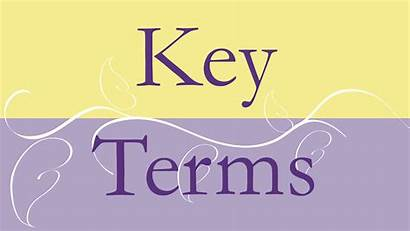 Key Terms Vocabulary