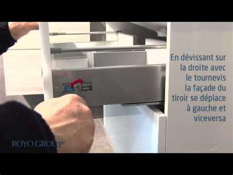 amortisseur tiroir cuisine tiroir métallique avec glissières g1 enlever le tiroir et installer