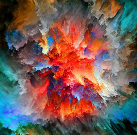 fantasy colorful abstract watercolor painting landscape