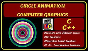 Circle Color Blinking Animation In Computer Graphics
