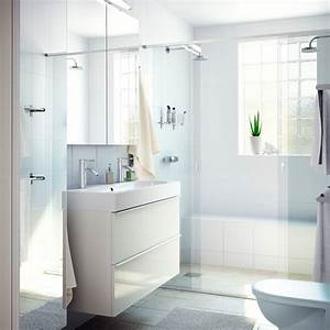Waschbeckenschrank Mit Waschbecken : ein badezimmer mit godmorgon waschbeckenschrank mit 2 schubladen hochglanz wei br viken ~ Eleganceandgraceweddings.com Haus und Dekorationen