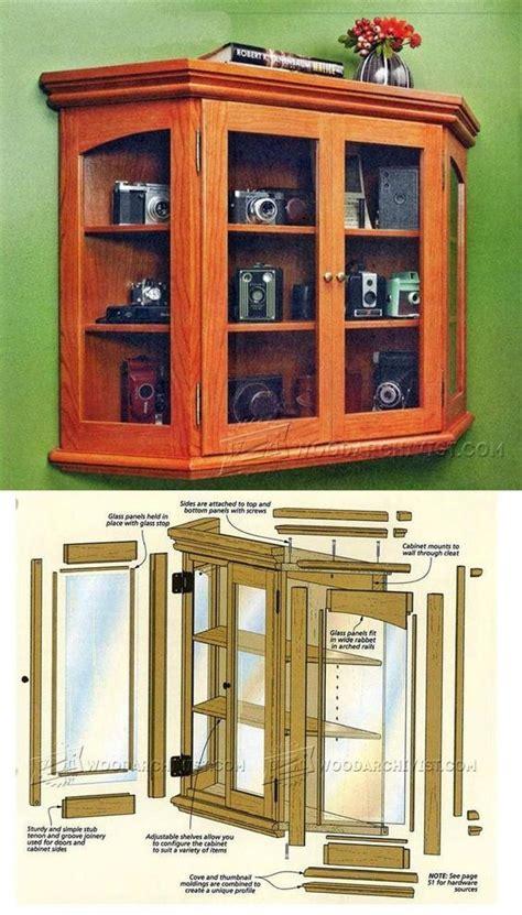 elegant curio cabinet plans furniture plans  projects