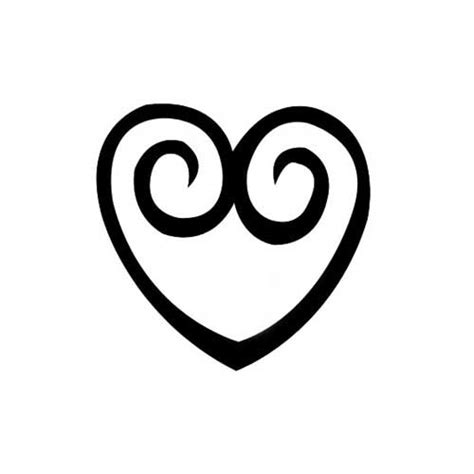 Design Stamp - Curly Heart 6mm