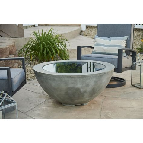 A concrete outdoor fire pit is a great addition to any backyard. The Outdoor GreatRoom Company Cove Concrete Propane/Natural Gas Fire Pit & Reviews | Wayfair
