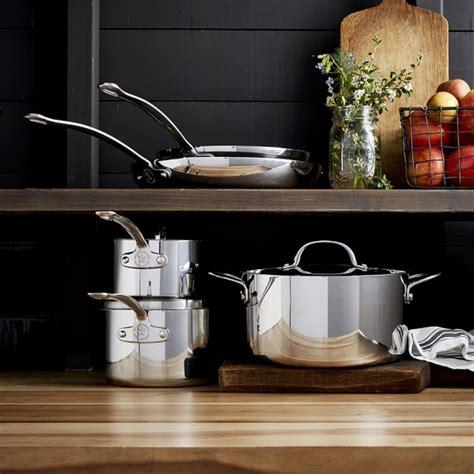 williams sonoma open kitchen stainless steel  piece
