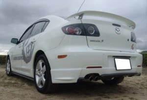 Mazda 3 Coffre : becquet de coffre mazda 3 4 portes 2004 2009 style mazdaspeed ~ Medecine-chirurgie-esthetiques.com Avis de Voitures