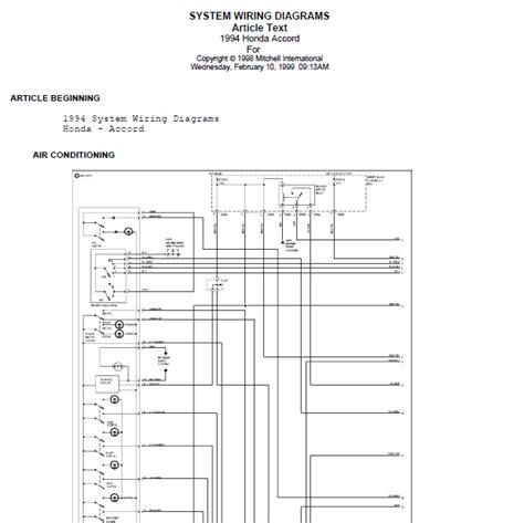 Repair Manuals Honda Accord Wire Diagrams
