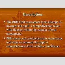 Philippine Informal Reading Inventory (phil Iri