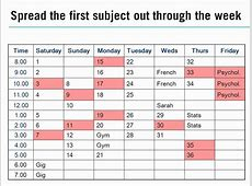 Planning your revision timetable YouTube