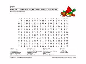 North Carolina Symbols Word Search Worksheet For 4th  5th Grade  Lesson Planet