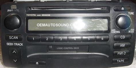 toyota corolla radio    tape cd player
