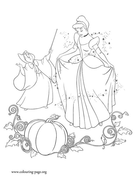 cinderella godmother fairy   magic  cinderella coloring page