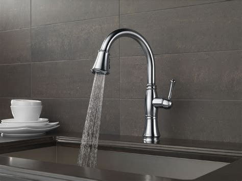 Delta Faucet Cassidy Kitchen by Delta 9197 Ar Dst Cassidy Single Handle Pull Kitchen
