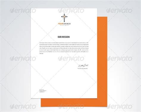 sample church letterheads  ai indesign ms