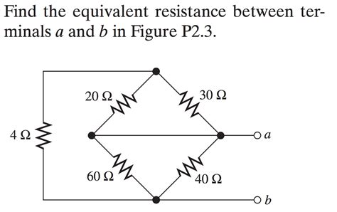 Homework Exercises Finding The Equivalent Resistance