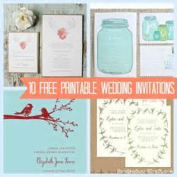 free wedding templates 10 free printable wedding invitations diy wedding