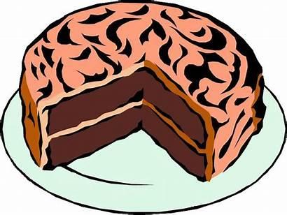 Clip Cake Clipart Birthday Cakes Chocolate Slice