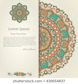 vector ornamental mandala card  pattern  floral