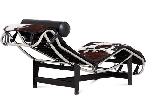chaise designe le corbusier lc4 chaise longue cowhide platinum replica