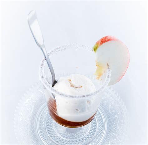 sorbet pomme et poire d azay le rideau sur lit de caramel au beurre sal 233