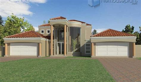 bedroom double storey house plan  south africa nethouseplansnethouseplans