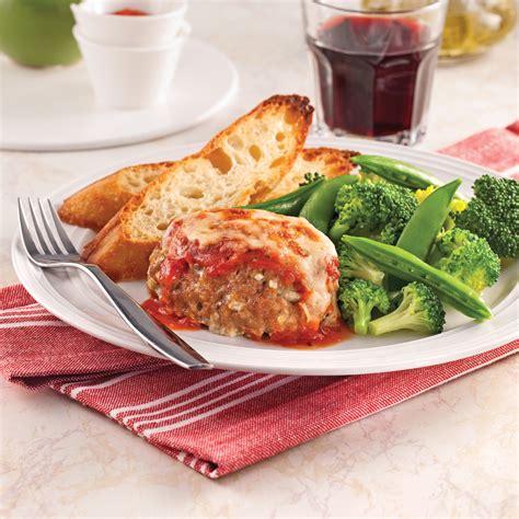 cuisine recettes pratiques mini pains de viande parmigiana recettes cuisine et nutrition pratico pratique