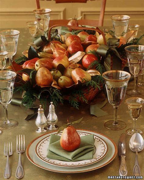 holiday centerpiece gilded pear basket martha stewart
