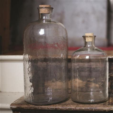 striking large hammered glass bottles