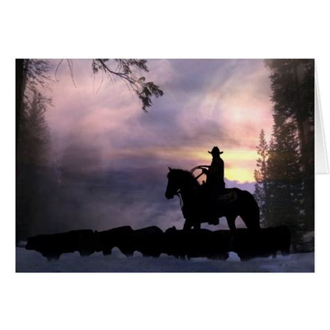 These popular and playful designs featuring horses, cactuses, and cowboy boots are sure to catch the attention of your friends, colleagues and associates, for holiday cards they will remember and comment on. Cowboy Christmas Greeting from Across the Miles Card | Zazzle
