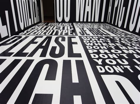 barbara kruger in taking place at the temporary stedelijk