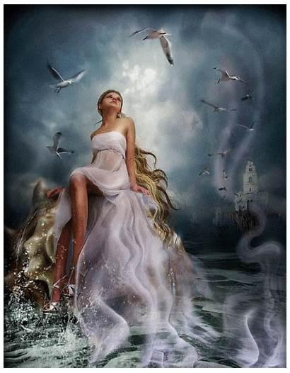 Fantasy Animated Gifs Goddess Greek Venus Decent