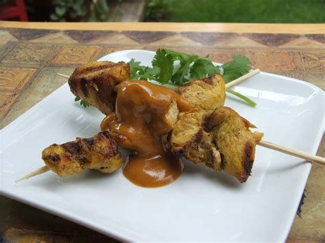 chicken satay chicken satay with peanut cilantro coleslaw recipe dishmaps
