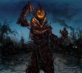 Creepy Pumpkin Head Scarecrow