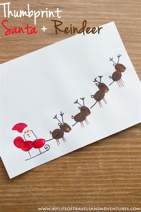 toddler christmas crafts thumb prints toddler christmas