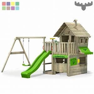 Spielhaus Garten Mit Rutsche : fatmoose countrycow maxi xxl spielturm kletterturm ~ Watch28wear.com Haus und Dekorationen